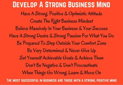 Develop A Strong Positive Business Mind