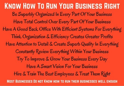 Know & Understand How To run Your Business Right