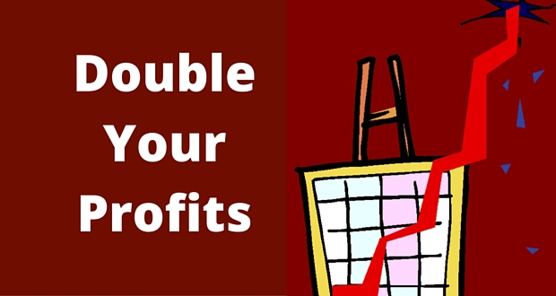 DOUBLE YOUR PROFITS BY MAKING SMALL CHANGES