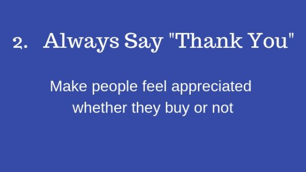"6 Customer Rules Guaranteeed To Grow Your Business # No2 ~ always say ""thank you"""