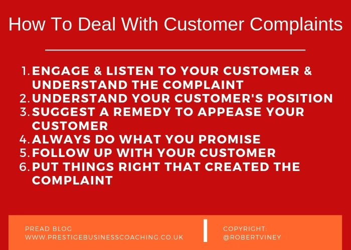 How To Deal With Customer Complaints